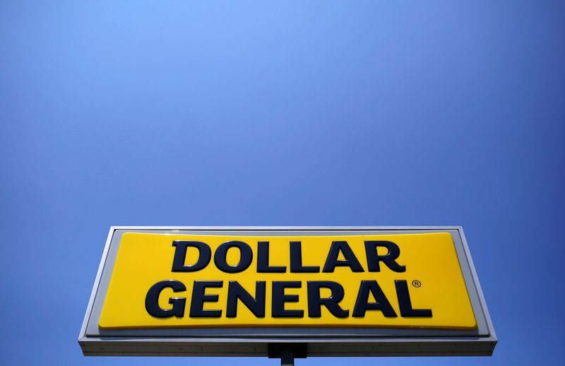 FILE PHOTO: A sign is seen outside a Dollar General store in Chicago