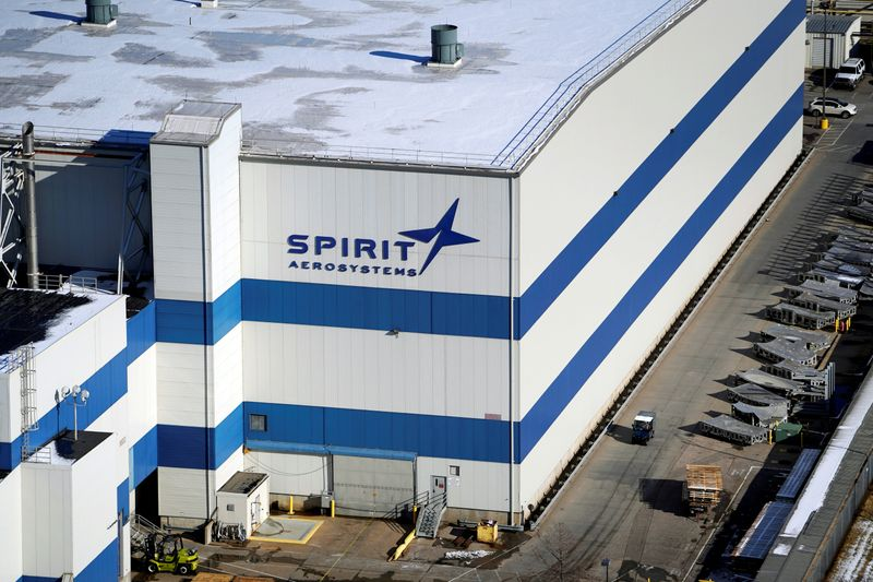 The headquarters of Spirit AeroSystems Holdings Inc, is seen in Wichita