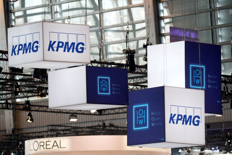 FILE PHOTO: The logo of KPMG is pictured in Paris