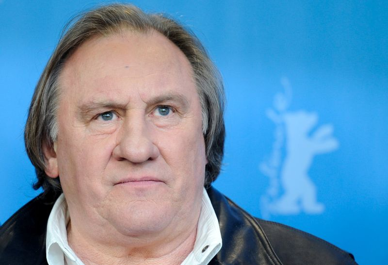 FILE PHOTO: Actor Depardieu poses during photocall at 66th Berlinale International Film Festival in Berlin