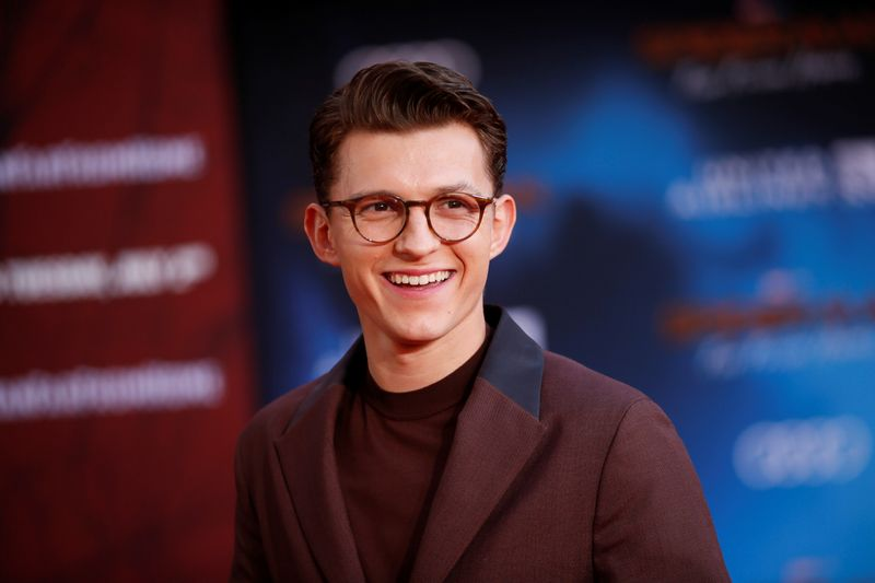 Actor Tom Holland poses at the World Premiere of Marvel Studios'