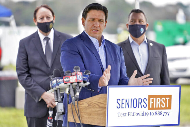 DeSantis back in Tampa Bay area after COVID-19 vaccine remarks