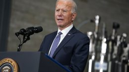 Joe Biden speaks after a tour of a Pfizer manufacturing site, Friday, Feb. 19, 2021, in Portage, Mich. (AP Photo/Evan Vucci)