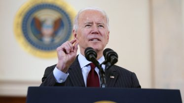oe Biden speaks about the 500,000 Americans that died from COVID-19, Monday, Feb. 22, 2021, in Washington. (AP Photo/Evan Vucci)