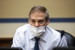 """Rep. Jim Jordan, R-Ohio., speaks during a House Oversight and Reform Committee hearing on """"Legislative Proposals to Put the Postal Service on Sustainable Financial Footing"""" on Capitol Hill, Wednesday, Feb. 24, 2021, in Washington. (Graeme Jennings/Pool via AP)"""
