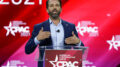 Donald Trump Jr., speaks at the Conservative Political Action Conference (CPAC) Friday, Feb. 26, 2021, in Orlando, Fla. (AP Photo/John Raoux)