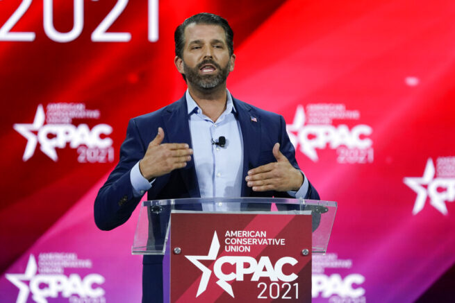 Donald Trump Jr. calls out RINOs, Biden's foreign policy