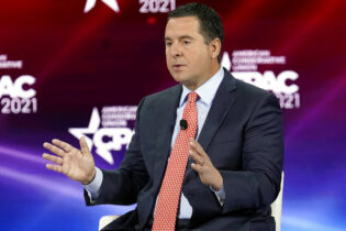 Rep. Devin Nunes, R-Calif., speaks at the Conservative Political Action Conference (CPAC) Saturday, Feb. 27, 2021, in Orlando, Fla. (AP Photo/John Raoux)