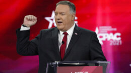 70th United States Secretary of State Mike Pompeo speaks at the Conservative Political Action Conference (CPAC) Saturday, Feb. 27, 2021, in Orlando, Fla. (AP Photo/John Raoux)