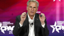 House Minority Leader Kevin McCarthy speaks at the Conservative Political Action Conference (CPAC) Saturday, Feb. 27, 2021, in Orlando, Fla. (AP Photo/John Raoux)