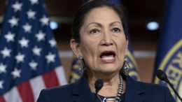 In this March 5, 2020, file photo Rep. Deb Haaland, D-N.M., Native American Caucus co-chair, speaks to reporters about the 2020 Census on Capitol Hill in Washington. Credit: J. Scott Applewhite / AP