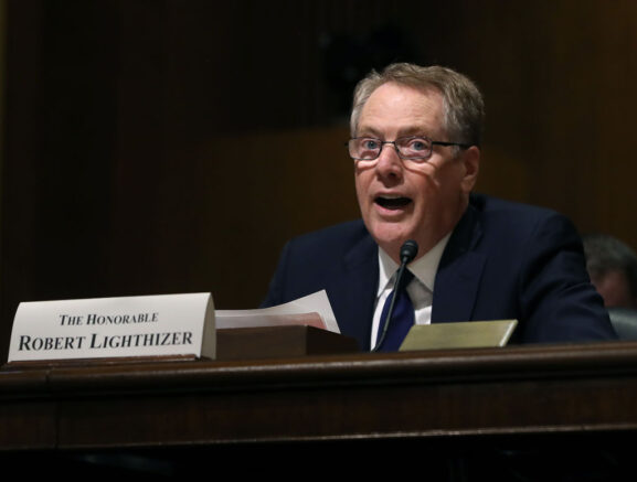WASHINGTON, DC - JUNE 18: U.S. Trade Representative Robert Lighthizer testifies during a Senate Finance Committee hearing on June 18, 2019 in Washington, DC. The committee heard testimony regarding President Trumps 2019 trade policy agenda.  (Photo by Mark Wilson/Getty Images)
