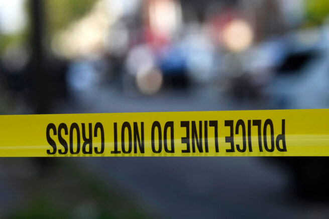 PHILADELPHIA, PA - AUGUST 14: Police tape is stretched across a street near a residence during a shooting on August 14, 2019 in Philadelphia, Pennsylvania. At least six police officers were reportedly wounded in an hours-long standoff with a gunman that prompted a massive law enforcement response in the city's Nicetown-Tioga neighborhood. (Photo by Mark Makela/Getty Images)