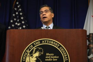 SACRAMENTO, CALIFORNIA - SEPTEMBER 18: California attorney general Xavier Becerra speaks during a news conference at the California justice department on September 18, 2019 in Sacramento, California. California Gov. Gavin Newsom, California attorney general Xavier Becerra and California Air Resources Board Chair Mary Nichols held a news conference in response to the Trump Administration's plan to revoke California's waiver to establish vehicle emissions standards for greenhouse gas emissions and standards to require manufacturers to sell zero emissions vehicles. Under the federal Clean Air Act, California is allowed to set its own vehicle emissions standards that are at least as protective as the federal government's standards. The state has received 100 waivers from the Environmental Protection Agency (EPA) for higher standards than federally mandated over the past 50 years. (Photo by Justin Sullivan/Getty Images)