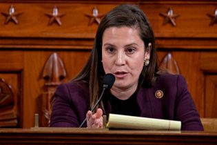 WASHINGTON, DC - NOVEMBER 21: Representative Elise Stefanik, a Republican from New York, questions witnesses during a House Intelligence Committee impeachment inquiry hearing on Capitol Hill November 21, 2019 in Washington, DC. The committee heard testimony during the fifth day of open hearings in the impeachment inquiry against U.S. President Donald Trump, whom House Democrats say held back U.S. military aid for Ukraine while demanding it investigate his political rivals. (Photo by Andrew Harrer-Pool/Getty Images)