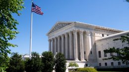 The US Supreme Court is seen in Washington, DC, on May 4, 2020, during the first day of oral arguments held by telephone, a first in the Court's history, as a result of COVID-19, known as coronavirus. (Photo by SAUL LOEB / AFP) (Photo by SAUL LOEB/AFP via Getty Images)