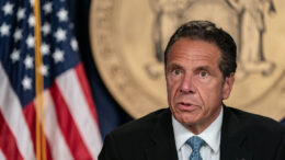 NEW YORK, NY - JULY 23: New York Gov. Andrew Cuomo speaks during the daily media briefing at the Office of the Governor of the State of New York on July 23, 2020 in New York City. The Governor said the state liquor authority has suspended 27 bar and restaurant alcohol licenses for violations of social distancing rules as public officials try to keep the coronavirus outbreak under control. (Photo by Jeenah Moon/Getty Images)