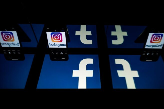 This picture taken on October 5, 2020 in Toulouse, southwestern France, shows logos of US social networks Facebook and Instagram on the screens of a tablet and a mobile phone. (Photo by Lionel BONAVENTURE / AFP) (Photo by LIONEL BONAVENTURE/AFP via Getty Images)