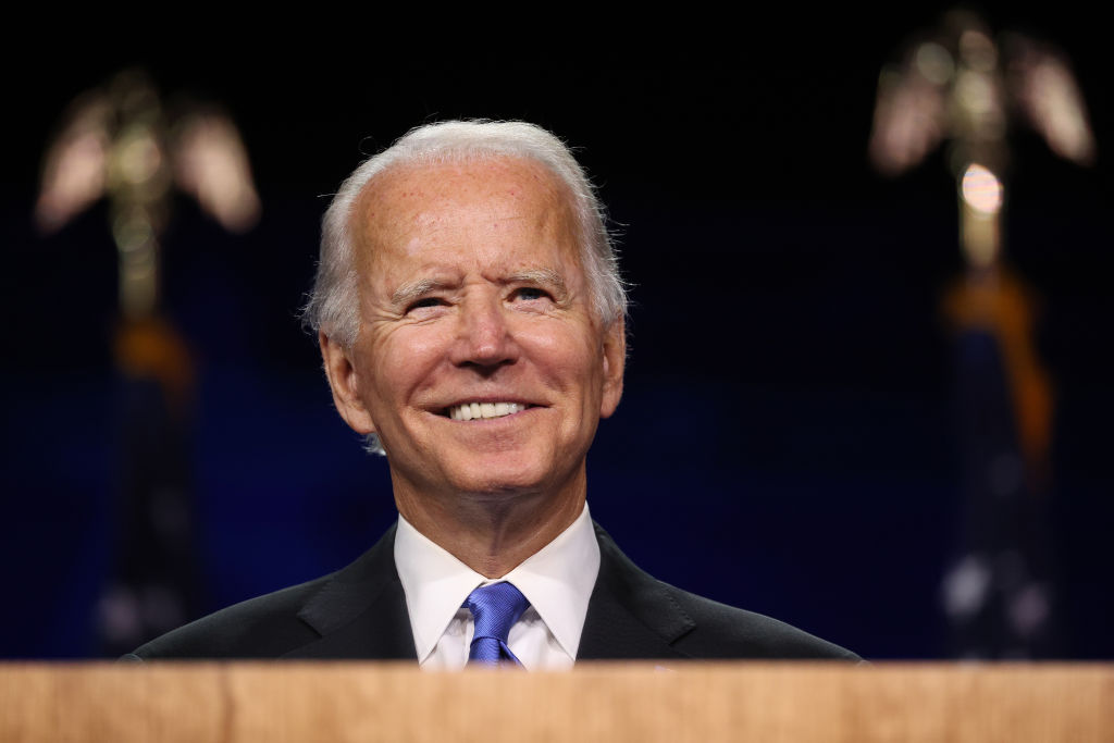 WILMINGTON, DELAWARE – AUGUST 20: Joe Biden delivered a speech on the fourth night of the Democratic National Convention from the Chase Center on August 20, 2020 in Wilmington, Delaware. (Photo by Win McNamee/Getty Images)