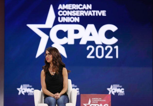 ORLANDO, FLORIDA - FEBRUARY 27: Rep. Lauren Boebert (R-CO), participates in a discussion on the Right to Bear Arms during the Conservative Political Action Conference held in the Hyatt Regency on February 27, 2021 in Orlando, Florida. Begun in 1974, CPAC brings together conservative organizations, activists, and world leaders to discuss issues important to them. (Photo by Joe Raedle/Getty Images)