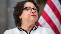 U.S. Supreme Court Justice Sonia Sotomayor on Capitol Hill in Washington, D.C. (Photo by Allison Shelley/Getty Images)