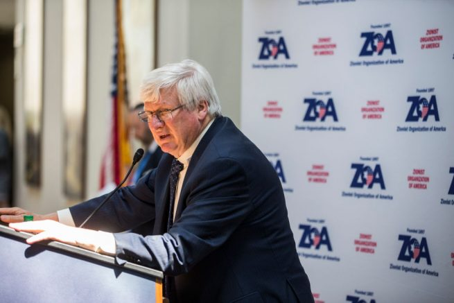 WASHINGTON, DC - MAY 09: Rep. Glenn Grothman (R-WI) speaks during an event hosted by the Zionist Organization of America on Capitol Hill on May 9, 2018 in Washington, DC. (Photo by Zach Gibson/Getty Images)