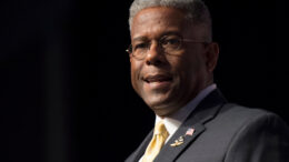 FILE - In this Thursday, June 19, 2014, file photo, former congressman and retired Lt. Col. Allen West speaks during Faith and Freedom Coalition's Road to Majority event in Washington. West was injured in a motorcycle crash Saturday, May 23, 2020, in Texas. (AP Photo/Molly Riley, File)