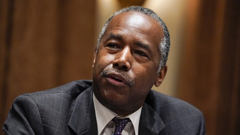 File - Ben Carson, former secretary of the Department of Housing and Urban Development, is pictured. ( Evan Vucci/ AP Photo)