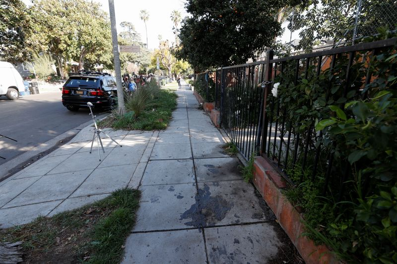 Site where Lady Gaga's dog walker was shot and two dogs stolen in L.A.