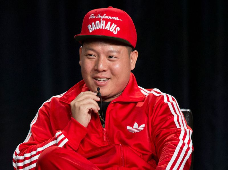 FILE PHOTO: Producer Huang speaks at a panel for the television series