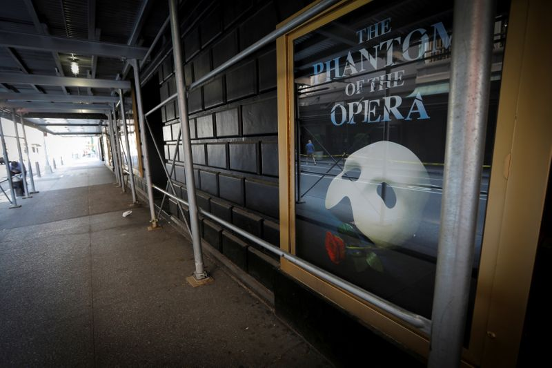 FILE PHOTO: Broadway theaters to remain closed until January 2021 in New York