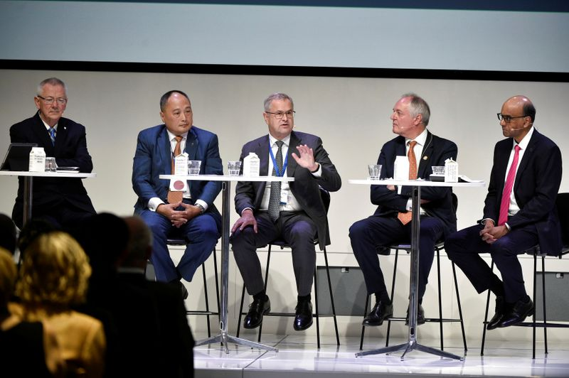 Steer takes part in a panel discussion at the Confederation of Danish Industries in Copenhagen, in connection with the PG4 Summit in Copenhagen