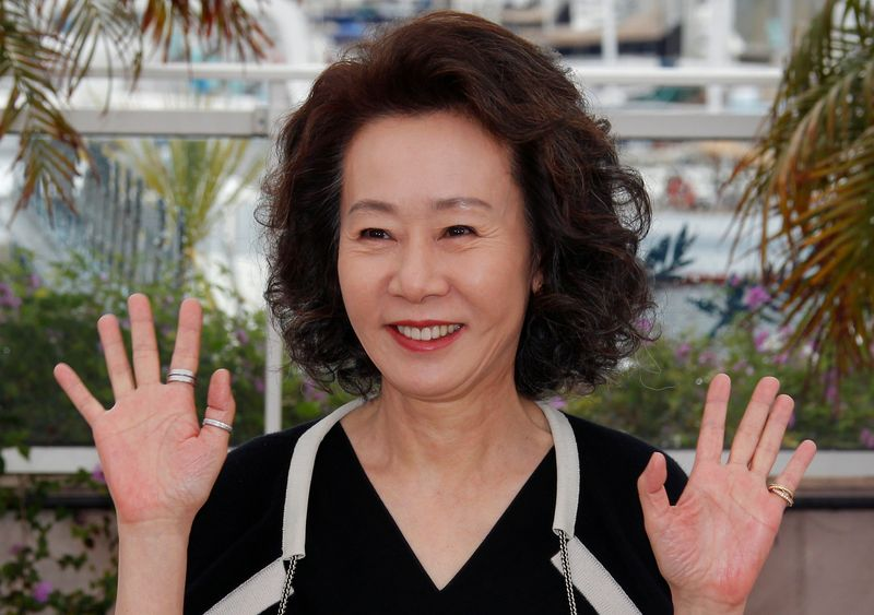FILE PHOTO: Cast member Youn Yuh-jung poses during a photocall at the 65th Cannes Film Festival