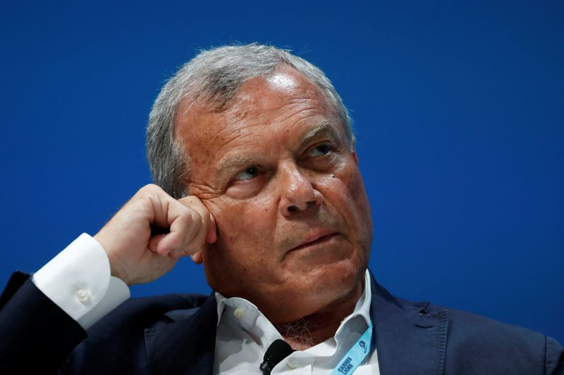 Sir Martin Sorrell attends a conference at the Cannes Lions International Festival of Creativity, in Cannes