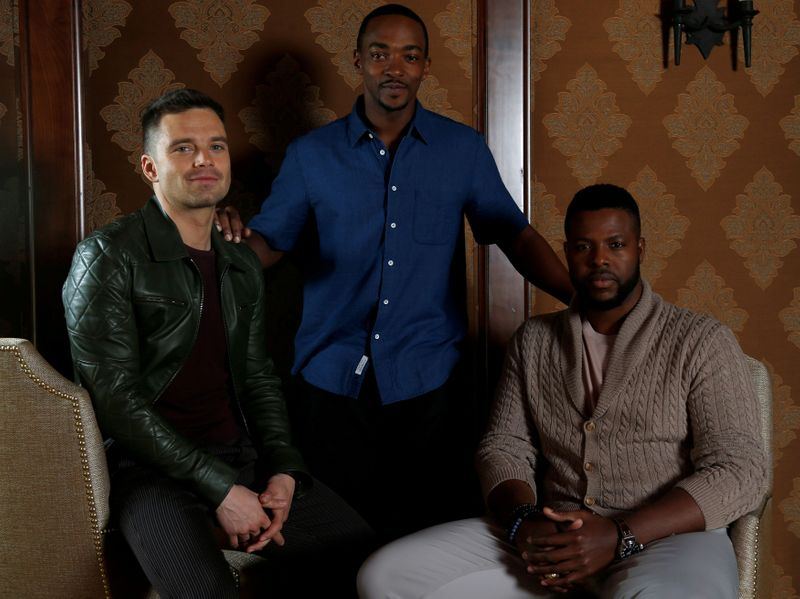 FILE PHOTO: Cast members Stan, Duke and Mackie pose for a portrait while promoting the