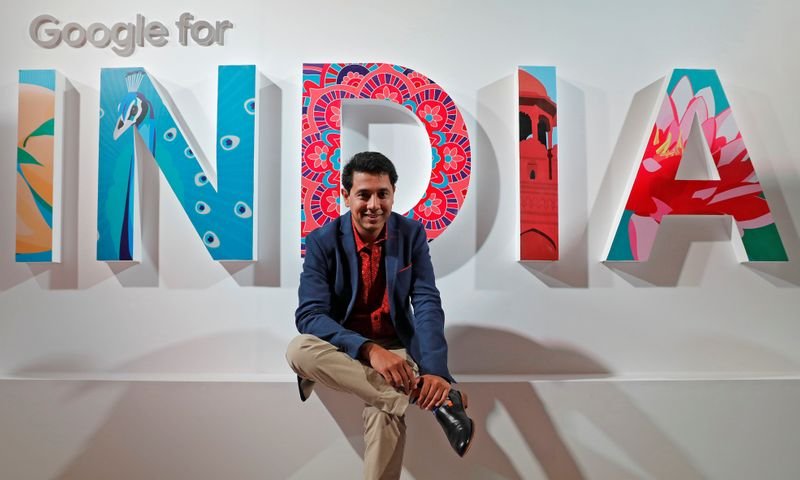 Caesar Sengupta, Google's General Manager of Payments and Vice President leading the Next Billion Users (NBU) initiative, poses for a picture after an interview with Reuters in New Delhi