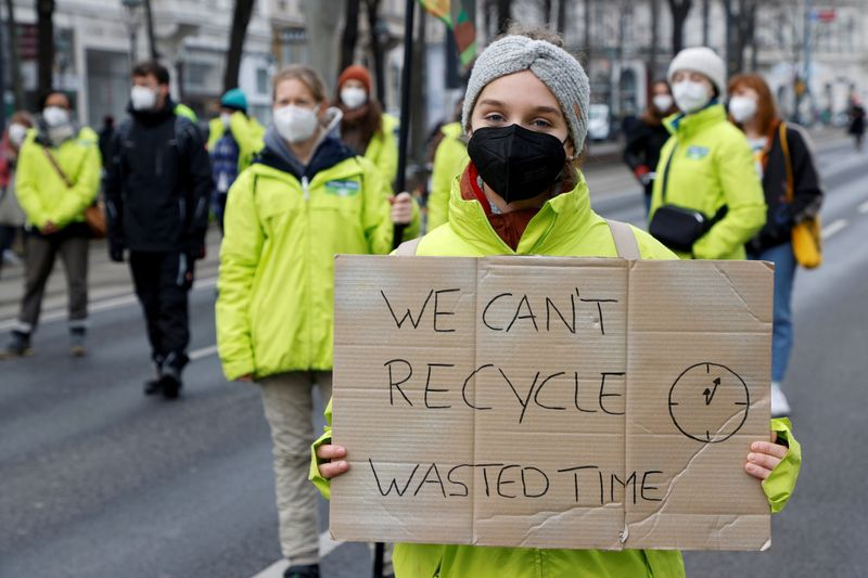 FILE PHOTO: Fridays for Future activists protest in Vienna as part of