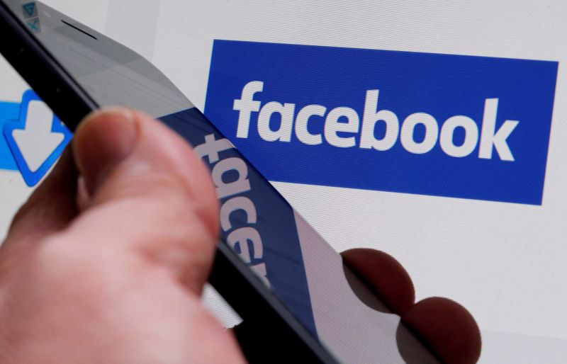 FILE PHOTO: The Facebook logo is displayed on their website in an illustration photo