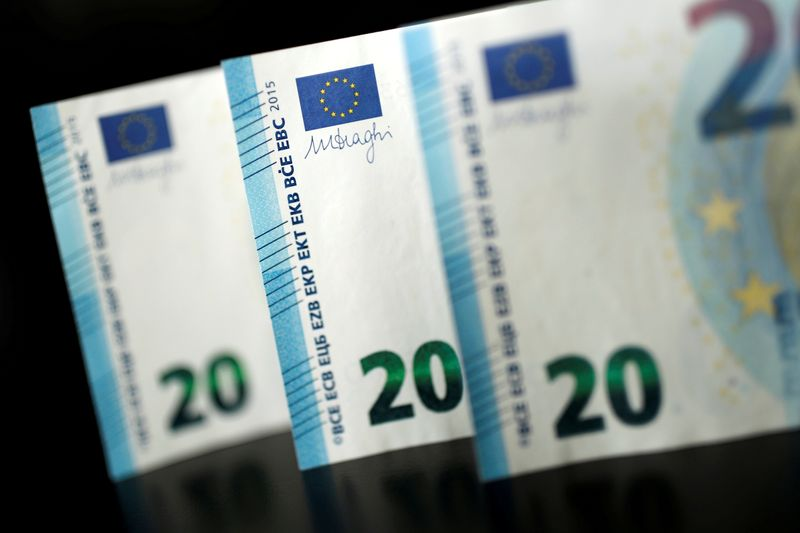 FILE PHOTO: 20 Euro banknotes are displayed is this picture illustration