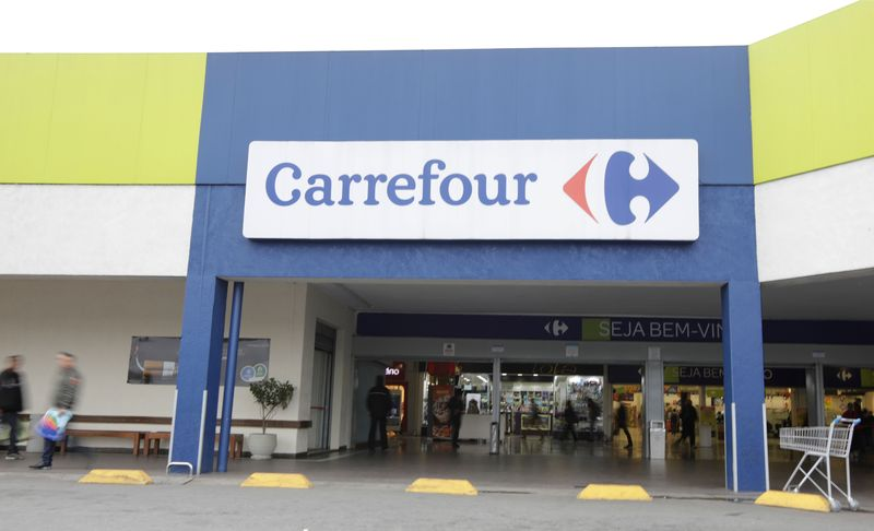A general view of a Carrefour supermarket in Sao Paulo