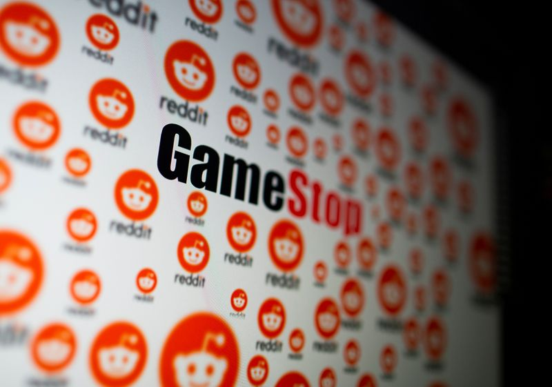FILE PHOTO: GameStop and Reddit logos are seen displayed in this illustration