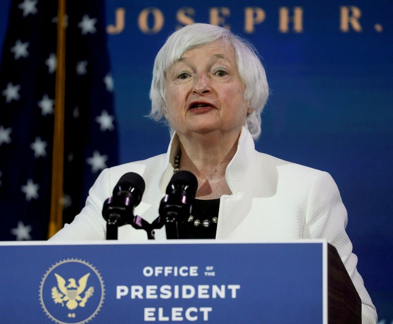 FILE PHOTO: U.S. Treasury Secretary-designate Janet Yellen in Wilmington, Delaware