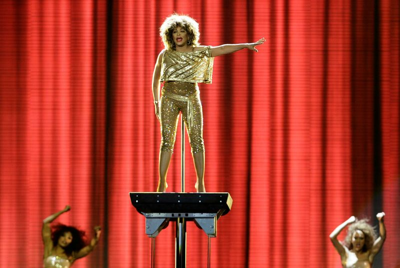 FILE PHOTO: Tina Turner performs in London