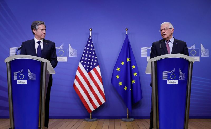 U.S. Secretary of State Blinken meets EU foreign policy chief Borrell in Brussels