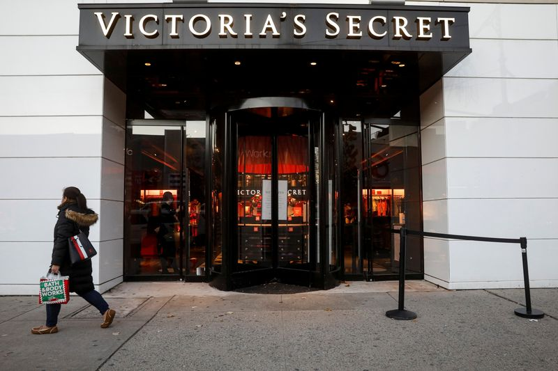 A shopper passes by a Victoria's Secret retail store, as the global outbreak of the coronavirus disease (COVID-19) continues, in Brooklyn, New York