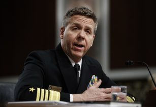 Adm. Philip Davidson testifies during a Senate Armed Services Committee hearing on Capitol Hill.Carolyn Kaster / AP Photo)