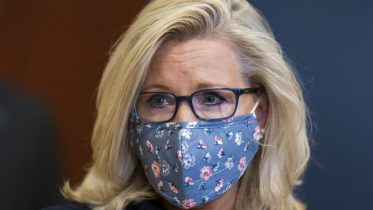 Rep. Liz Cheney, R-Wyo., the House Republican Conference chair, joins the other GOP leaders speaking to reporters as Congress preps for its first votes on the Democrats' $1.9 trillion COVID-19 relief bill, on Capitol Hill in Washington, Wednesday, Feb. 24, 2021. (AP Photo/J. Scott Applewhite)