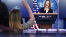 White House press secretary Jen Psaki calls on a reporter during a press briefing at the White House, Friday, March 5, 2021, in Washington. (AP Photo/Patrick Semansky)