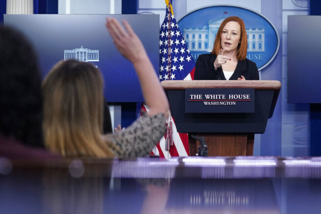 Psaki says Biden is too busy with COVID crisis to hold press briefing