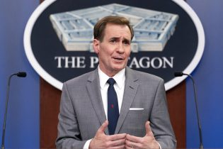 Pentagon spokesman John Kirby speaks during a media briefing at the Pentagon, Tuesday, March 23, 2021, in Washington. (AP Photo/Andrew Harnik)